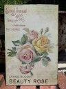 プレート アイアン ローズ サイン ウエルカム壁掛け 雑貨 ガーデニング ガーデン【花遊び】『Large Bloom Beauty Roses』
