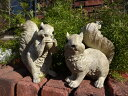 りす 置物 樹脂 アニマル 動物雑貨 ガーデニング ガーデン【花遊び】『happy♪ホワイトりすちゃん2!』