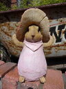 ガーデニング ガーデン うさぎ ラビット きのこ 置物 樹脂 アニマル 動物 雑貨【花遊び】『きのこうさぎちゃん・B』【12月上旬のお届け予定です】