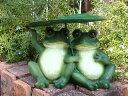ガーデニング雑貨 ガーデン カエル かえる フロッグ置物 樹脂アニマル 動物 雑貨 【花遊び】『はすかえるちゃん』