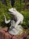 カエル フロッグ 王冠 置物 樹脂 アニマル 動物雑貨 ガーデニング ガーデン【花遊び】『ガーデン フロッグ』