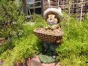 ガーデニング雑貨 ガーデン うさぎ ラビット置物 樹脂 アニマル動物 雑貨【花遊び】『スタンディングおしゃれうさぎくん』【10月下旬のお届け予定です】