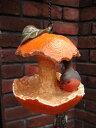 バード 小鳥 みかん ハンギング オーナメント 樹脂ガーデニング ガーデン アンティーク【花遊び】『バードハンギング・オレンジ』