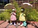 ガーデニング雑貨 ガーデン かえる置物 樹脂 アニマル 動物 雑貨【花遊び】『雨傘カエル』【1月下旬のお届け予定です】