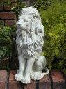 ガーデニング ガーデン ライオン オーナメント置物 樹脂 アニマル 動物 雑貨 【花遊び】【NEW】『ホワイトライオンオブジェ』