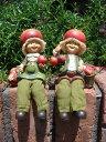 ガーデニング雑貨 ガーデンお人形 ドール 妖精 お座り 【花遊び】『おすわり妖精♪りんご』
