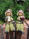 ガーデニング雑貨 ガーデンお人形 ドール 妖精 お座り 【花遊び】『おすわり妖精♪マンゴスチン』