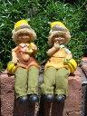 ガーデニング雑貨 ガーデンお人形 ドール 妖精 お座り 【花遊び】『おすわり妖精♪バナナ』