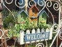 ハンギング 寄せ植え フレーム フェンス 木製ガーデニング ガーデン アンティーク【花遊び】『ウッドバードハウス3ポット』