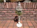 ガゼボ 鳥かご 小鳥 ガーデニング ガーデン雑貨 アンティーク アイアン 寄せ植え【花遊び】『ブラン・スタンドケージ』【2月上旬のお届け予定です】