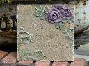 プレート オーナメント 樹脂 ガーデニング ガーデン アンティーク【花遊び】『ローズ♪デコレーションストーン・B』
