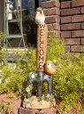 ガーデニング ガーデン 雑貨 スコップアンティーク 樹脂製【花遊び】『小鳥ちゃんwelcomeフォーク』【2月下旬のお届け予定です】
