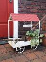 ガーデニング ガーデン 雑貨【NEW】『赤い屋根♪ワゴンカート』