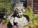 ガーデニング ガーデン エンジェル フェアリー 天使 羽根オーナメント インテリア 雑貨 樹脂 置物【花遊び】『エンジェル・リトルプリンス』【3月上旬のお届け予定です】