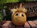 ハロウィン かぼちゃ パンプキン オーナメントガーデニング ガーデン アンティーク 送料無料【花遊び】『スケアクロウヘッドゴード』