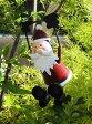 クリスマス サンタ スノーマン トナカイ ツリーガーデニング ガーデン イルミネーション 【花遊び】『おちゃめ♪ぶら下がりサンタ・B』