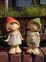 お人形 雑貨 ガーデニング ガーデン『お庭でランチ♪きのこボーイ&ガール』
