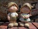 人形 ドール きのこ 陶器 雑貨 カントリーガーデニング ガーデン【花遊び】『カントリーラブリードール・L』
