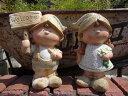 ガーデニング雑貨 ガーデン 人形 ドール きのこ陶器 雑貨 カントリー ウエルカム【花遊び】『カントリーラブリードールwelcome』