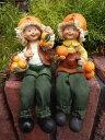 ガーデニング雑貨 ガーデンお人形 ドール 妖精 お座り 【花遊び】『おすわり妖精♪みかん』