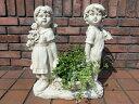 ガーデニング ガーデン 女の子 男の子 置物樹脂 アニマル お人形 雑貨 【花遊び】『ラブリー♪ガーデナー』