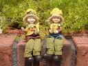 ガーデニング雑貨 ガーデンお人形 ドール 妖精 お座り 【花遊び】『おすわり妖精♪とうもろこし』