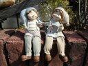 お人形 ドール 置物 雑貨ガーデニング ガーデン【花遊び】『カントリードール♪お座り・L』