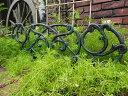 ガーデニング フェンス アイアン ミニフェンス 柵ガーデン アンティーク【花遊び】『ガーデンフェンス・ワイド』【4月上旬のお届け予定です】