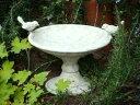 ガーデニング雑貨 ガーデン バードバス 小鳥 雑貨 小鳥 アンティーク アイアン【花遊び】『ホワイト♪バードバスポット』【2月上旬のお届け予定です】