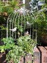 ガゼボ 鳥かご 小鳥 ガーデニング ガーデン雑貨 アンティーク アイアン 寄せ植え【花遊び】『鳥かご・BALCONY・L』
