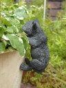 キャット アニマル プランター 寄せ植え樹脂 雑貨 ガーデニング ガーデン【花遊び】『ミニ!ハンギング キャット・クロ』