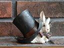 ガーデニング雑貨 ガーデン ウサギ置物 樹脂 アニマル 動物 雑貨【花遊び】『アリス ラビットピギー』