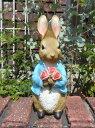 ガーデニング雑貨 ガーデン ウサギ 雑貨『Peter Rabbit♪ローズブーケ』