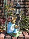 ガーデニング雑貨 ガーデン ウサギ 雑貨『Peter Rabbit♪親子 ストリート ソーラーライト』