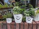 ハロウィン かぼちゃ パンプキン オーナメント【花遊び】『Happyハロウィンポット3!』