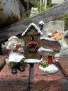 ガーデニング ガーデン クリスマス トナカイ アンティーク『happyクリスマス♪キャンディーハウス』