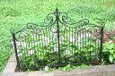 アイアン フェンス ガーデニング ガーデン雑貨 つる アンティーク 送料無料【花遊び】『Garden Low Fence エレガント』【2月下旬のお届け予定です】他の商品との同梱は別途送料(864円)