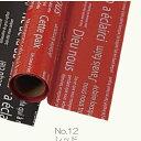 Gracias/リセ No.12 レッド /2012【01】【取寄】《 ラッピング用品 梱包資材 ラッピングペーパー(包装紙) セロハン OPPロール 》