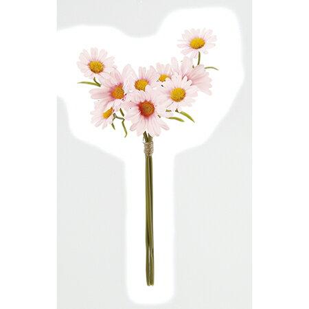 【造花】アスカ/デージーバンチ×9 ピンク/A-32798-003【01】【01】【取寄】《 造花(アーティフィシャルフラワー) 造花 花材「た行」 デージー 》