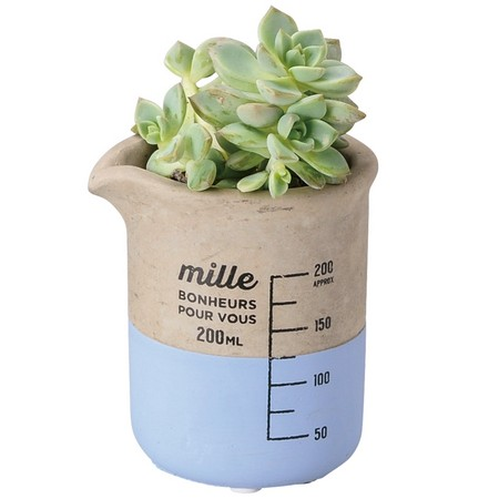 GREENHOUSE/セメントビーカーポット M ブルー/3746-A-BL【02】[2個]《 ガーデニング用品 ポット・鉢 陶器 》