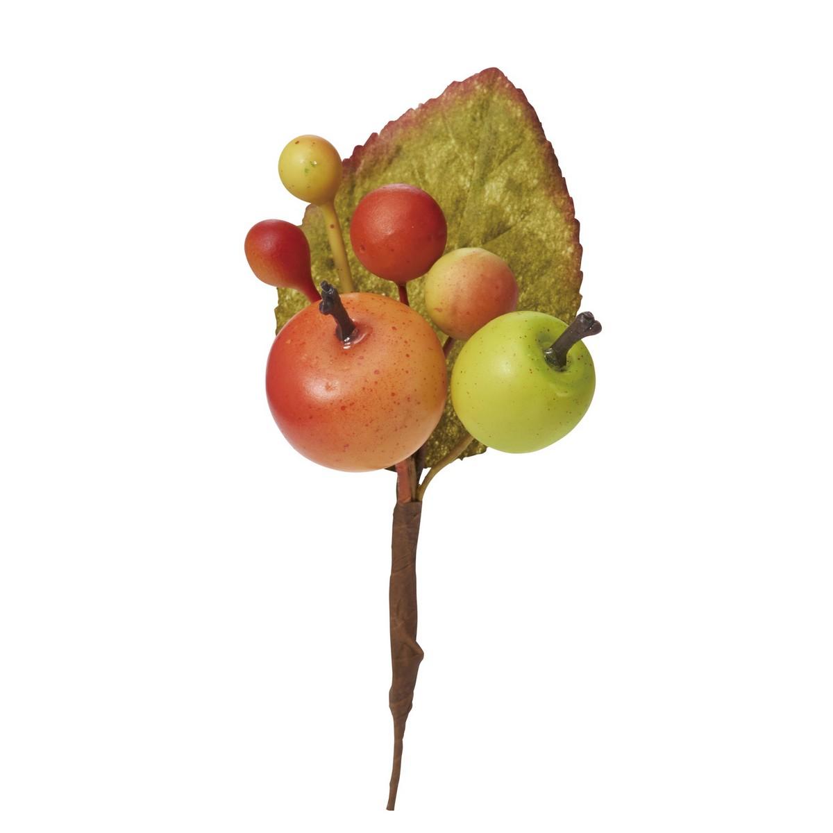 【造花】YDM/ミニアップルピック /HW -1305【01】【取寄】《 造花(アーティフィシャルフラワー) 造花実物、フェイクフルーツ アップル 》