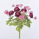 即日★【造花】アスカ/ラナンキュラスブッシュ×20 ピンク/A-32935-3【00】《 造花(アーティフィシャルフラワー) 造花 花材「ら行」 ラナンキュラス 》