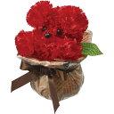 【造花】YDM/ミニクラフトボールプードルアレンジR /SPDD0217【03】《 造花 造花アレンジ(完成品) フラワー》