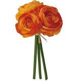 【造花】YDM/ラナンキュラスバンドル*3 オレンジ/FB2460-OR【03】《 造花 ラナンキュラス》