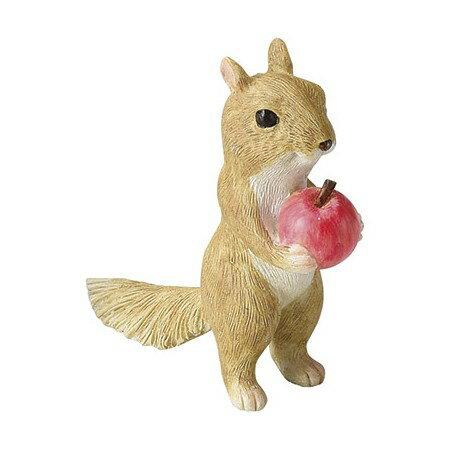 松野ホビー/ミニリスとりんご/GM-330201取寄[4個]《ガーデニング用品雑貨・置物・オーナメン