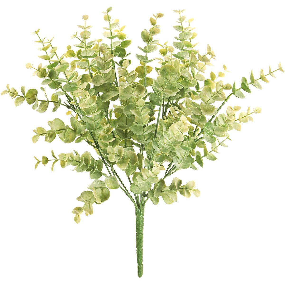 【造花】MAGIQ(東京堂)/ロメールユーカリブッシュ #23 ライトグリーン/FG001455-023【01】【取寄】《 造花(アーティフィシャルフラワー) 造花葉物、フェイクグリーン ユーカリ 》