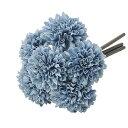 【造花】アスカ/ポンポンマムバンチ(1束6本) #064B グレイブルー/A-33164-64【01】【01】【取寄】《 造花(アーティフィシャルフラワー) 造花 花材「か行」 キク(菊)・ピンポンマム 》