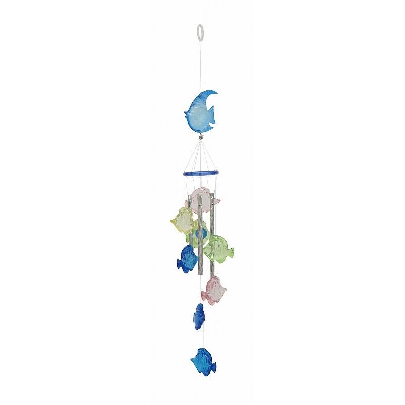 AMANO/チャイム・トロピカルフィッシュ/QME-00200101取寄《店舗ディスプレイ夏の装飾品