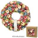 GREENHOUSE/ナチュラルリース L 帯 パステルカラー/4343-A《 花器、リース リース完成品 天然素材 》