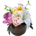 【造花】YDM/ブツダンヨウラウンドポット ミックス/FP-0846-MIX【01】【取寄】